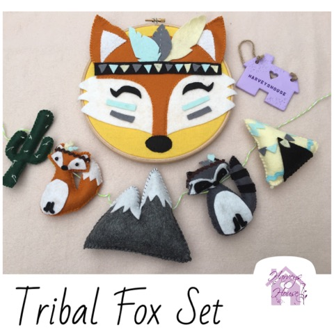 Tribal Fox Hoop Set