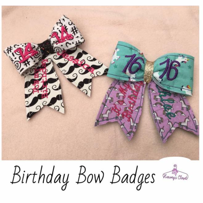Birthday Bow Badges